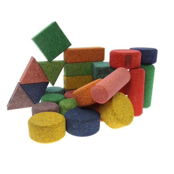 Korxx bunte Bauklötze in verschiedenen Farben 28 Stk.