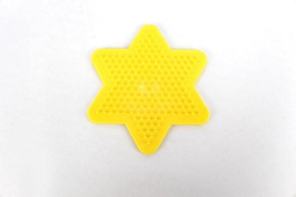 Hama Stiftplatte, kleiner Stern, farbig: gelb
