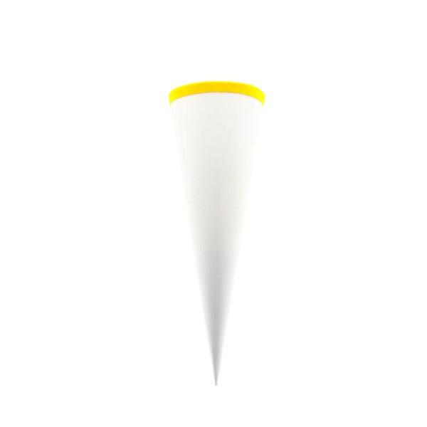 Goldbuch Geschwistertüte weiß 35cm, rund, gelb Filzverschluss