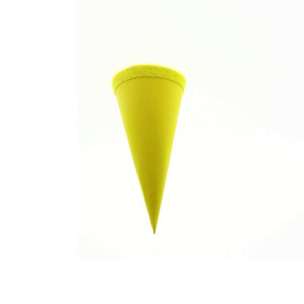 Goldbuch Geschenktüte - 15cm - gelb - gelber Filzverschluss