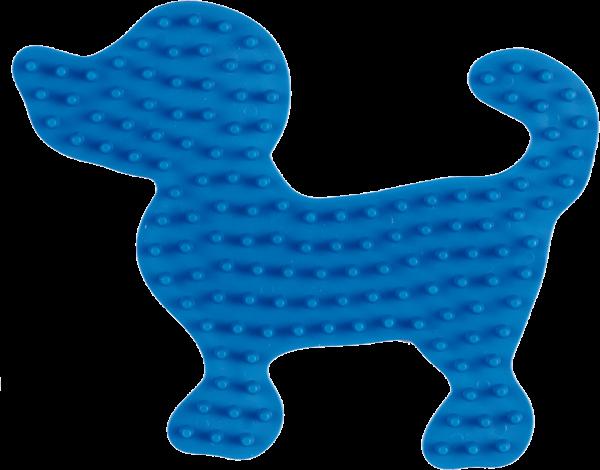 Hama Stiftplatte kl. Hund, Blau