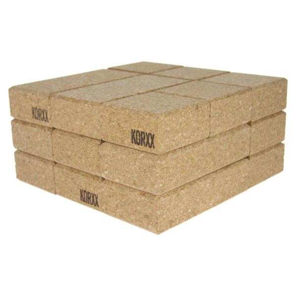 Korxx 80 rechteckige und quadratische Korkbausteine