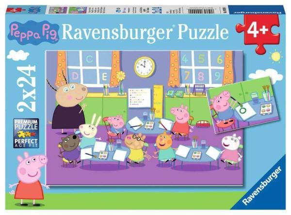 Ravensburger Kinderpuzzle Peppa in der Schule