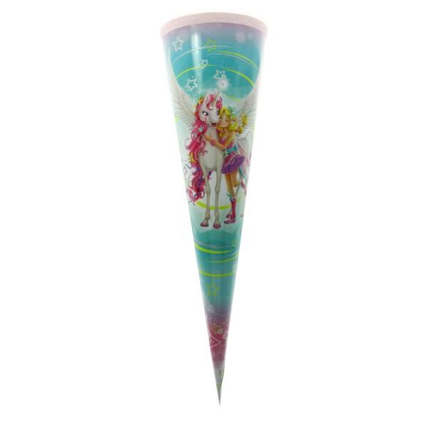 Roth Geschenktüte Magisches Einhorn, Glitzer, 22cm, rund, Tüllverschluss