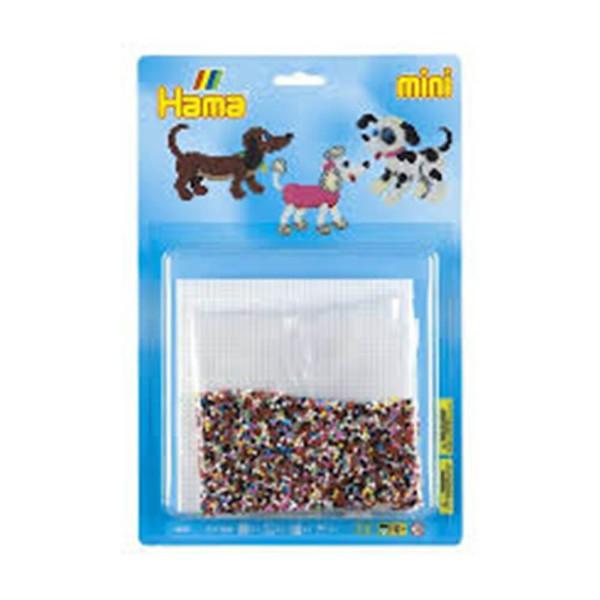 Hama Blister Hund mit 5000 Mini-Bügelperlen und 1x Stiftplatte