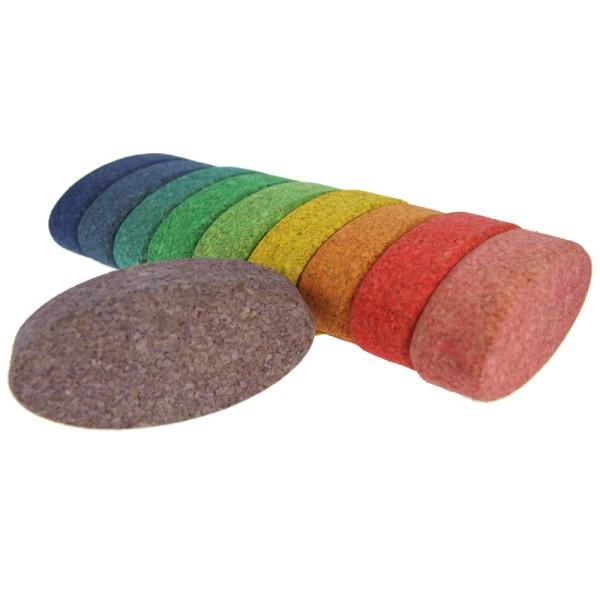 Korxx farbige ovale Bausteine 10 Stk.