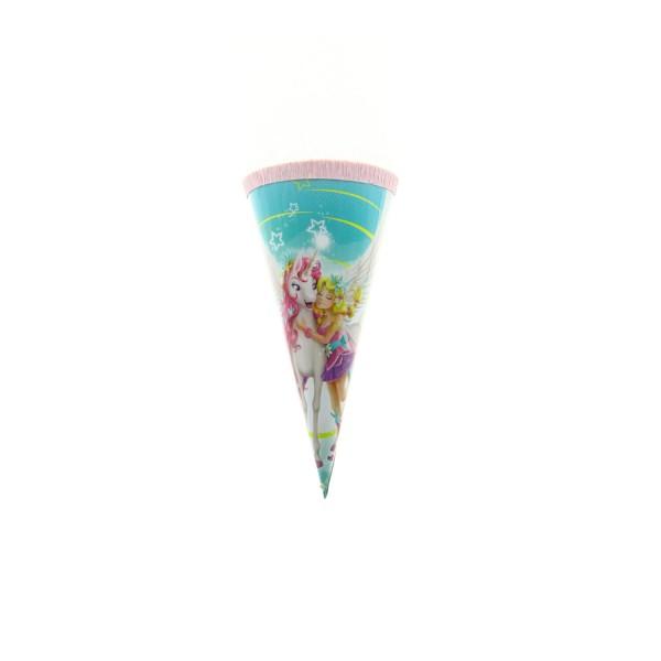 Roth Geschenktüte Magisches Einhorn, 15cm, rund, Kreppverschluss