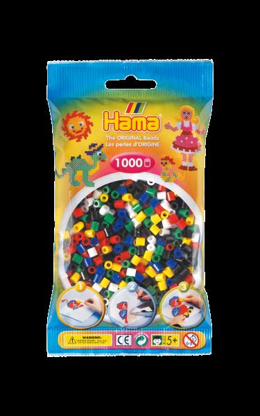 Hama Bügelperlen.1000 stk, Mix 6 Farben