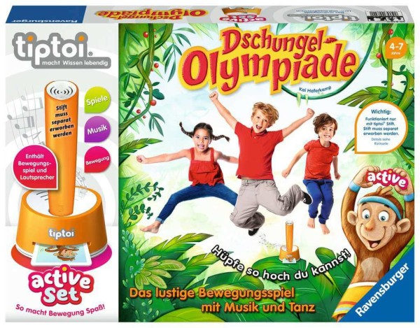 tiptoi® active Set Dschungel-Olympiade