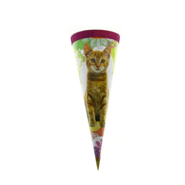 Roth Geschenktüte Katze, Glitzer, 22cm, rund, Tüllverschluss