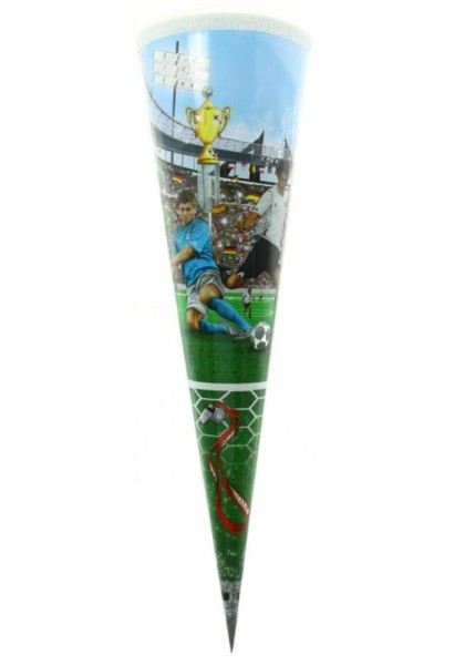 Roth Geschwistertüte Soccer, Silberfolie, 35cm, rund, Tüllverschluss