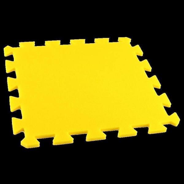 Bodenmatte Puzzlematten Einzelteile - 8 mm - gelb