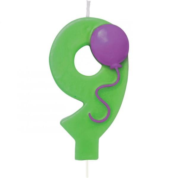 Zahlenkerze Luftballon
