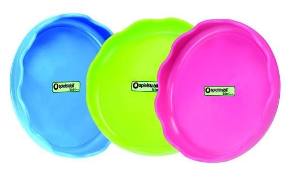 Spielstabil Untersetzer bioline in den Farben blau, grün oder pink