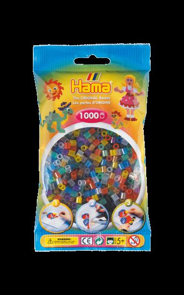 Hama Bügelperlen 1000 Stk. Transparent-Mix