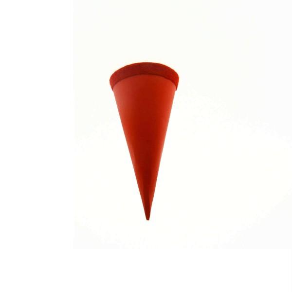 Goldbuch Geschenktüte - 15cm - rot - roter Filzverschluss