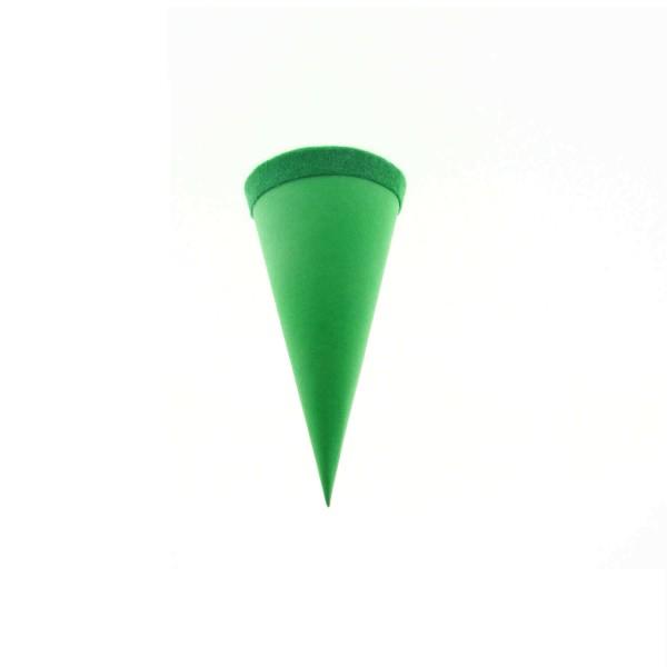 Goldbuch Geschenktüte - 15cm - grün- grüner Filzverschluss