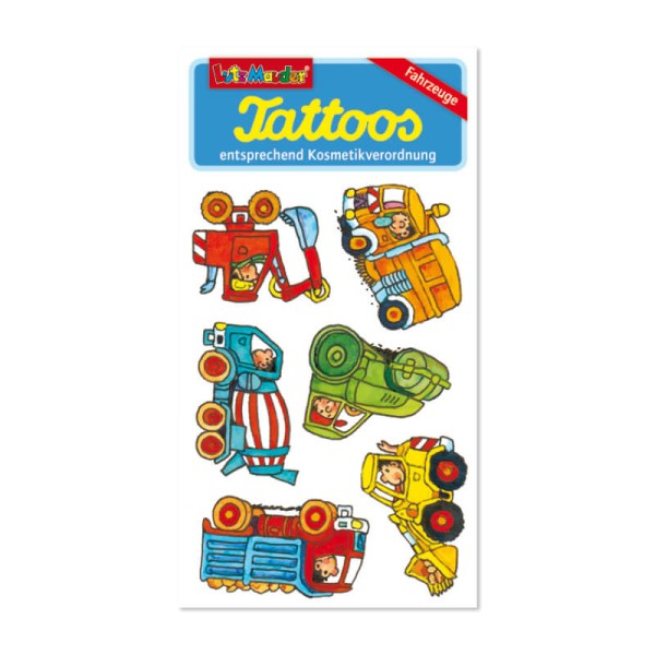 Tattoos Baustellenfahrzeuge