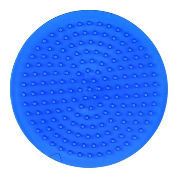 Hama Stiftplatte, klein, rund, farbig: blau