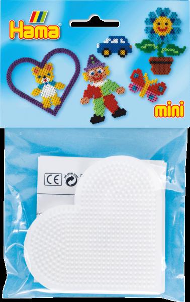 Hama 2x Stiftplatte Herz für Mini Bügelperlen