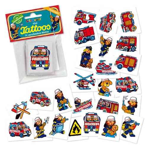 Mini Tattoo Set Feuerwehr Benny Brandmeister
