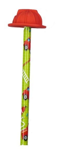 Bleistift Mit Radierer Feuerwehr