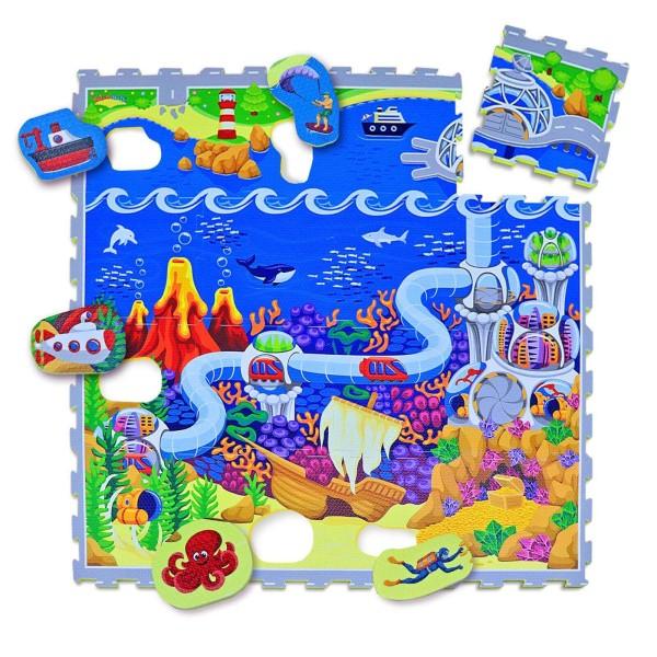 Hakuna Matte Puzzle Play Mat - Ocean (1.2x-1.2m)