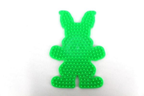 Hama Stiftplatte, Häschen, farbig: grün