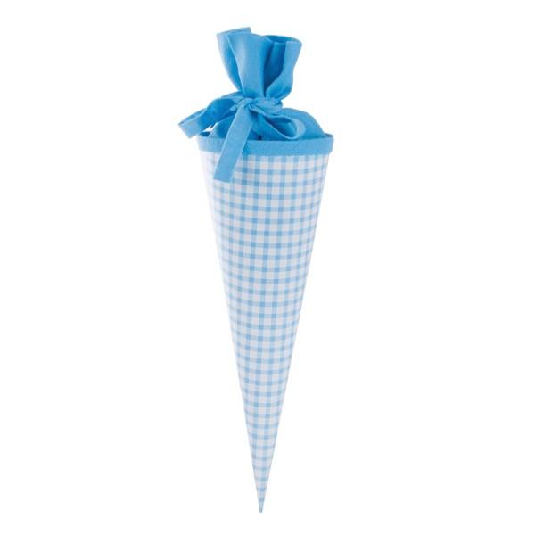 Goldbuch Geschenktüte Karo blau - 35cm