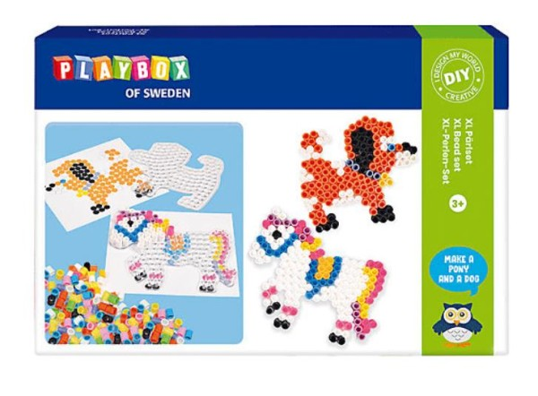 Playbox Bügelperlenset XL-Perlen Hund & Pferd