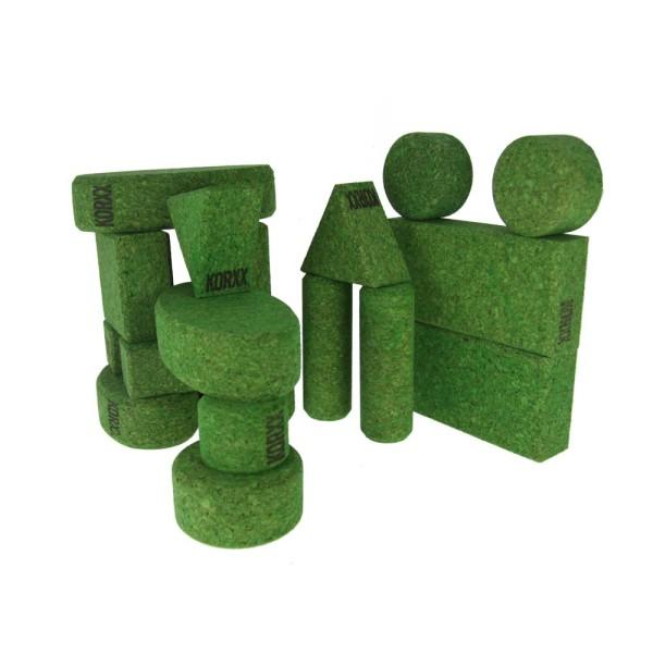 Korxx - 18 Bausteine in derselben Farbe